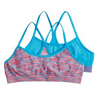 Girls 7-16 Pink Cookie 2-pack Space-Dyed Seamless Racerback Bras