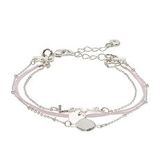 LC Lauren Conrad Simulated Crystal 'Love' Multistrand Nickel Free Bracelet