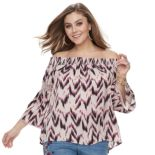 Plus Size Jennifer Lopez Off-The-Shoulder Top