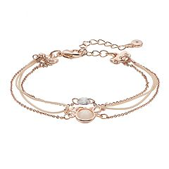 LC Lauren Conrad Simulated Crystal 'XOXO' Multistrand Nickel Free Bracelet