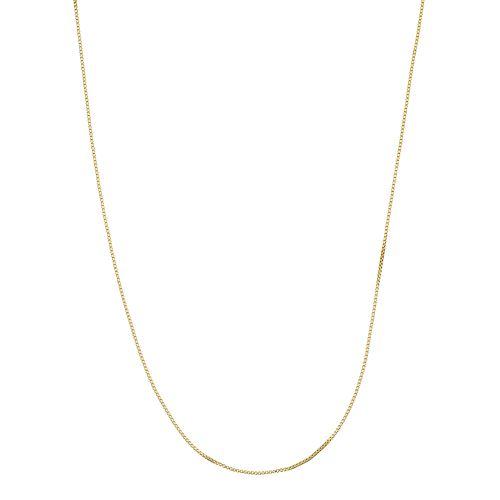 Primavera 24k Gold Over Silver Venetian Box Chain Necklace