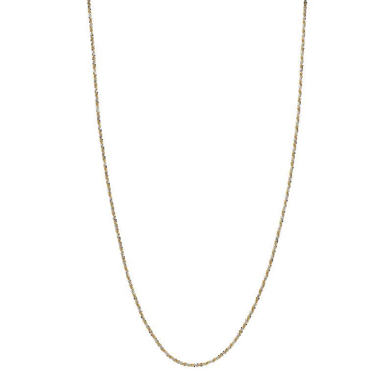 """Primavera 24k Gold Over Silver Sparkle Chain Necklace, Women's, Size: 20"""", Yellow"""