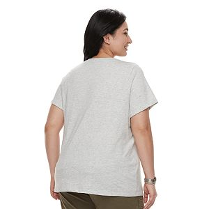 Plus Size Sonoma Goods For Life® Graphic V-Neck Tee