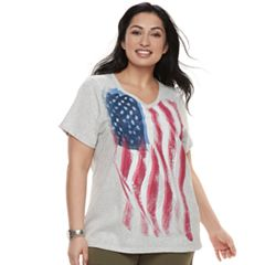 Plus Size SONOMA Goods for Life™ Graphic V-Neck Tee