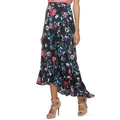 Women's Jennifer Lopez Ruffle Satin Maxi Skirt