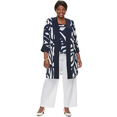 Plus Size Maya Brooke Tank, Jacket & Pants Set