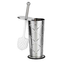 Home Basics Criss Cross Stainless Steel Toilet Brush Holder