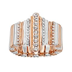 Jennifer Lopez Tri Tone Pave Stretch Ring