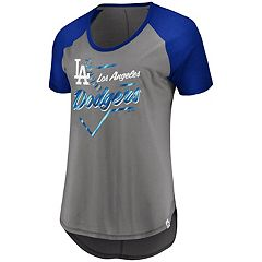 Plus Size Majestic Los Angeles Dodgers Raglan Tee