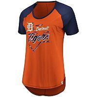 Plus Size Majestic Detroit Tigers Raglan Tee