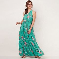 Women's LC Lauren Conrad Print Halter Maxi Dress