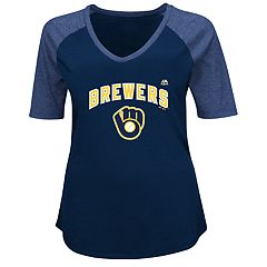 Plus Size Majestic Milwaukee Brewers Half Sleeve Tee