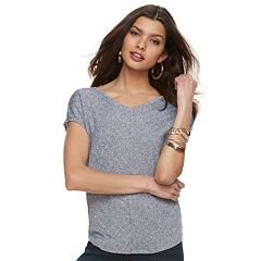 Women's Jennifer Lopez Dolman V-Neck Tee