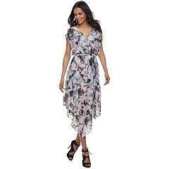Women's Jennifer Lopez Mesh Faux-Wrap Dress