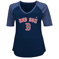 Plus Size Majestic Boston Red Sox Half Sleeve Tee