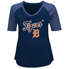 Plus Size Majestic Detroit Tigers Half Sleeve Tee
