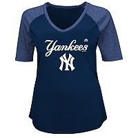 Plus Size Majestic New York Yankees Half Sleeve Tee