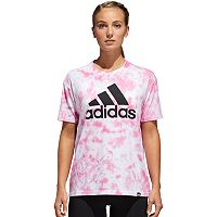 Women's adidas Badge Of Sport Tie-Dye Graphic Tee