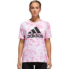 Women's adidas Badge Of Sport Tie-Dye Graphic Tee