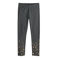 Girls 4-10 Jumping Beans® Foiled Full-Length Leggings