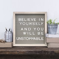 New View 12' x 12' Gray Letter Board Wall Decor 190-piece Set
