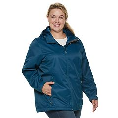 Plus Size ZeroXposur Samara Hooded Rain Jacket