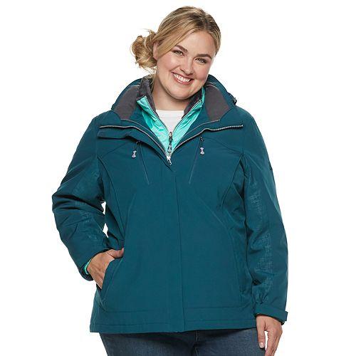 Plus Size Zeroxposur Trish 3 In 1 Heavyweight Systems Jacket