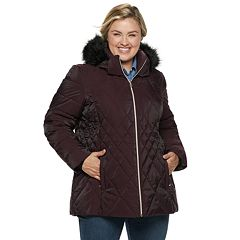 Plus Size ZeroXposur Gretchen Hooded Quilted Jacket