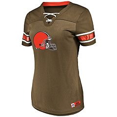 Women's Majestic Cleveland Browns Draft Me Top