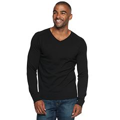 Men's Marc Anthony Slim-Fit Tuck-Stitch V-Neck Sweater