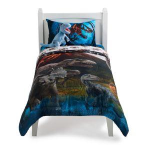 Jurassic World Predator Run Twin Full Comforter