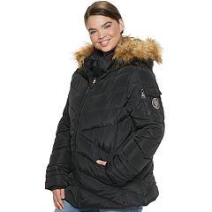 madden NYC Juniors' Plus Size Short Puffer Jacket