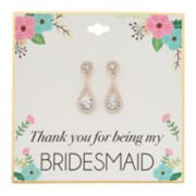 Simlated Crystal Bridesmaid Teardrop Nickel Free Earrings