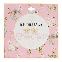 Floral Flower Girl Stud Nickel Free Earrings