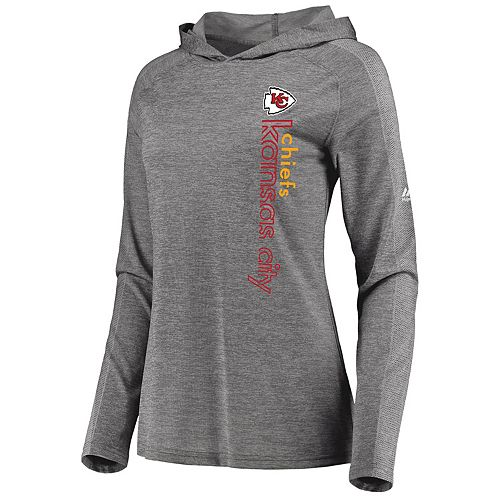 65bfabdb Women's Majestic Kansas City Chiefs Fan Flow Hoodie