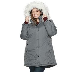 madden NYC Juniors' Plus Size Taslon Hooded Parka