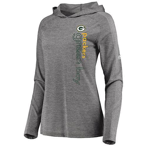 outlet store ed792 0cd38 Women's Majestic Green Bay Packers Fan Flow Hoodie