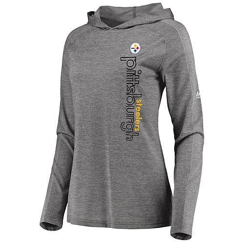 Women s Majestic Pittsburgh Steelers Fan Flow Hoodie c0cffd6744