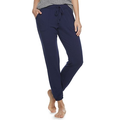 Women's SONOMA Goods for Life™ French Terry Banded-Bottom Sleep Pants