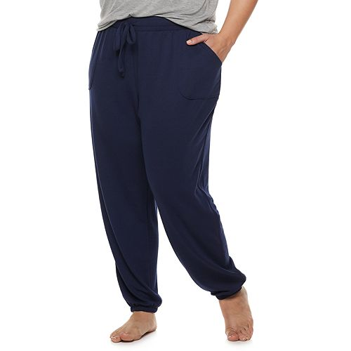 Plus Size SONOMA Goods for Life™ French Terry Banded Bottom Sleep Pants