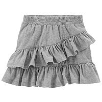 Girls 4-8 Carter's Asymmetrical Tiered Ruffle Skort