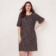 Plus Size LC Lauren Conrad Bell Sleeve Swing Dress