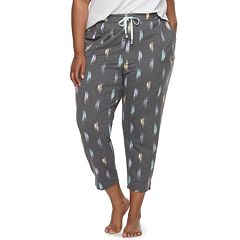 Plus Size SONOMA Goods for Life™ Essential Crop Lounge Pants
