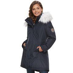 Juniors' madden NYC Taslon Faux-Fur Hooded Parka Jacket