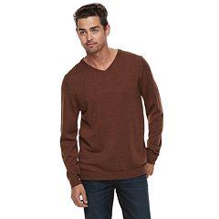 Men Apt. 9® Wool-Blend Merino V-Neck Sweater