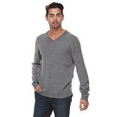 Men Apt. 9® Wool-Blend Merino V-Neck Sweater