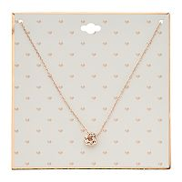 Rose Gold Tone Love Knot Pendant Necklace