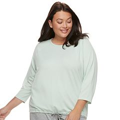 Plus Size SONOMA Goods for Life™ Raglan Drawstring Tee