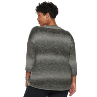 Plus Size Napa Valley Curved Hem Sweater