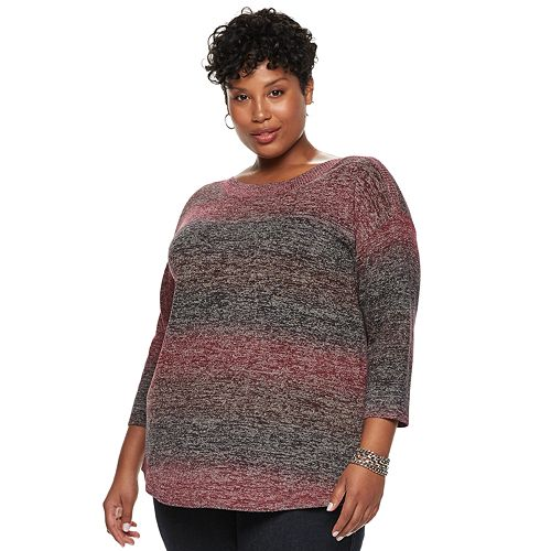 239d76c473c Plus Size Napa Valley Curved Hem Sweater